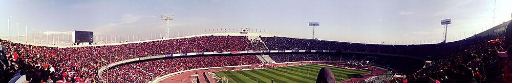 The Azadi Stadium is the largest football stadium in West Asia.