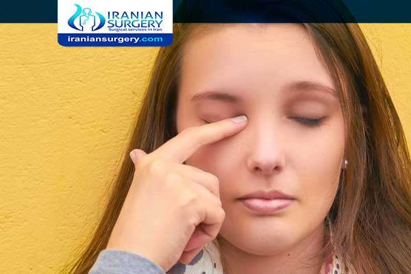 Bruising after chalazion surgery