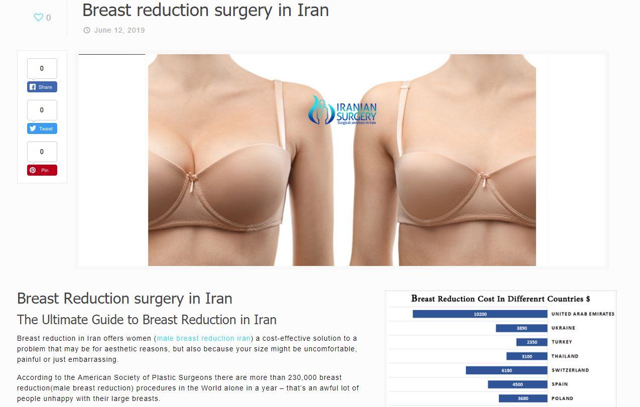 breast surgery iran